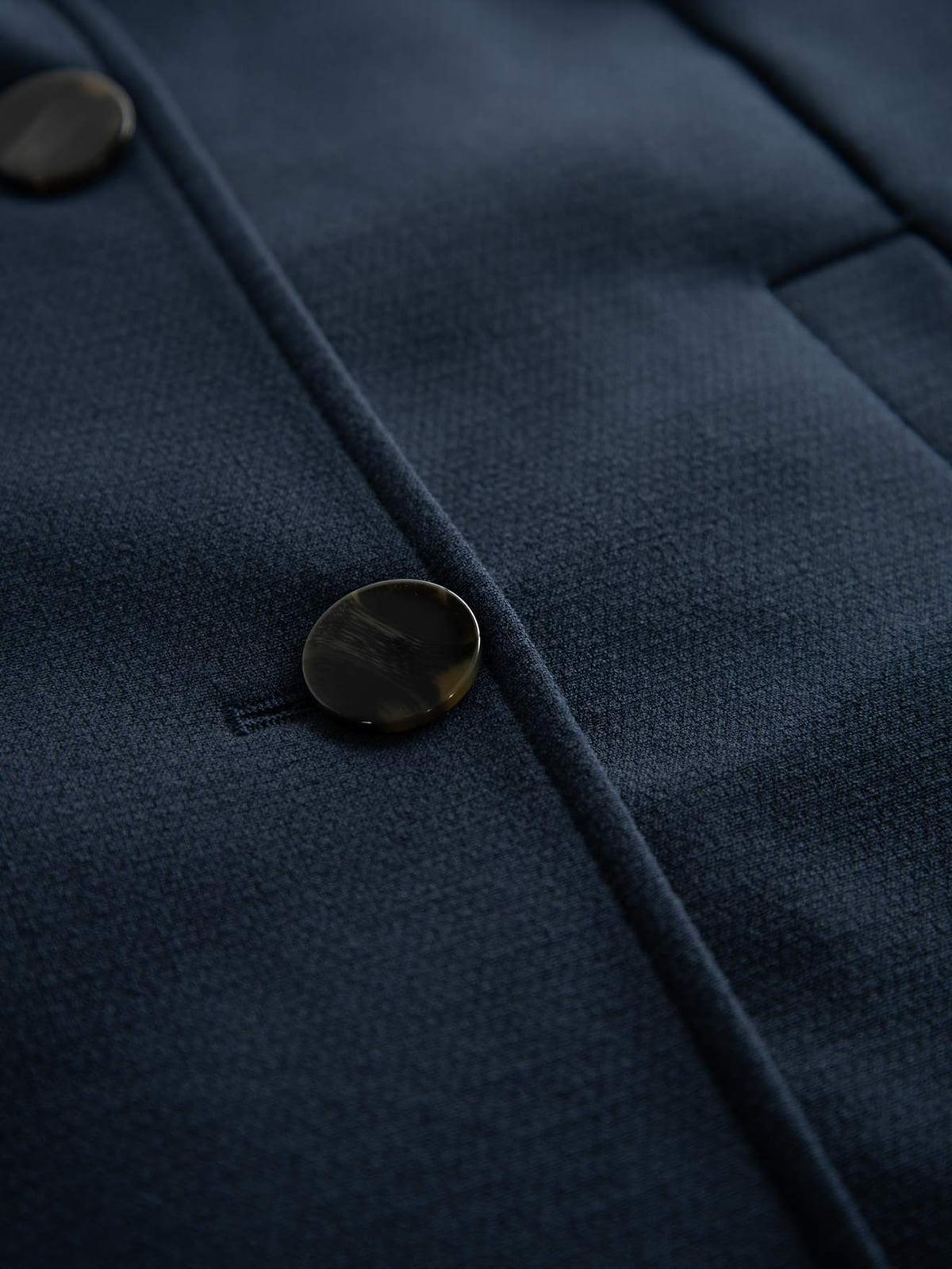 Пальто темно-синее | 4855999 | фото 3