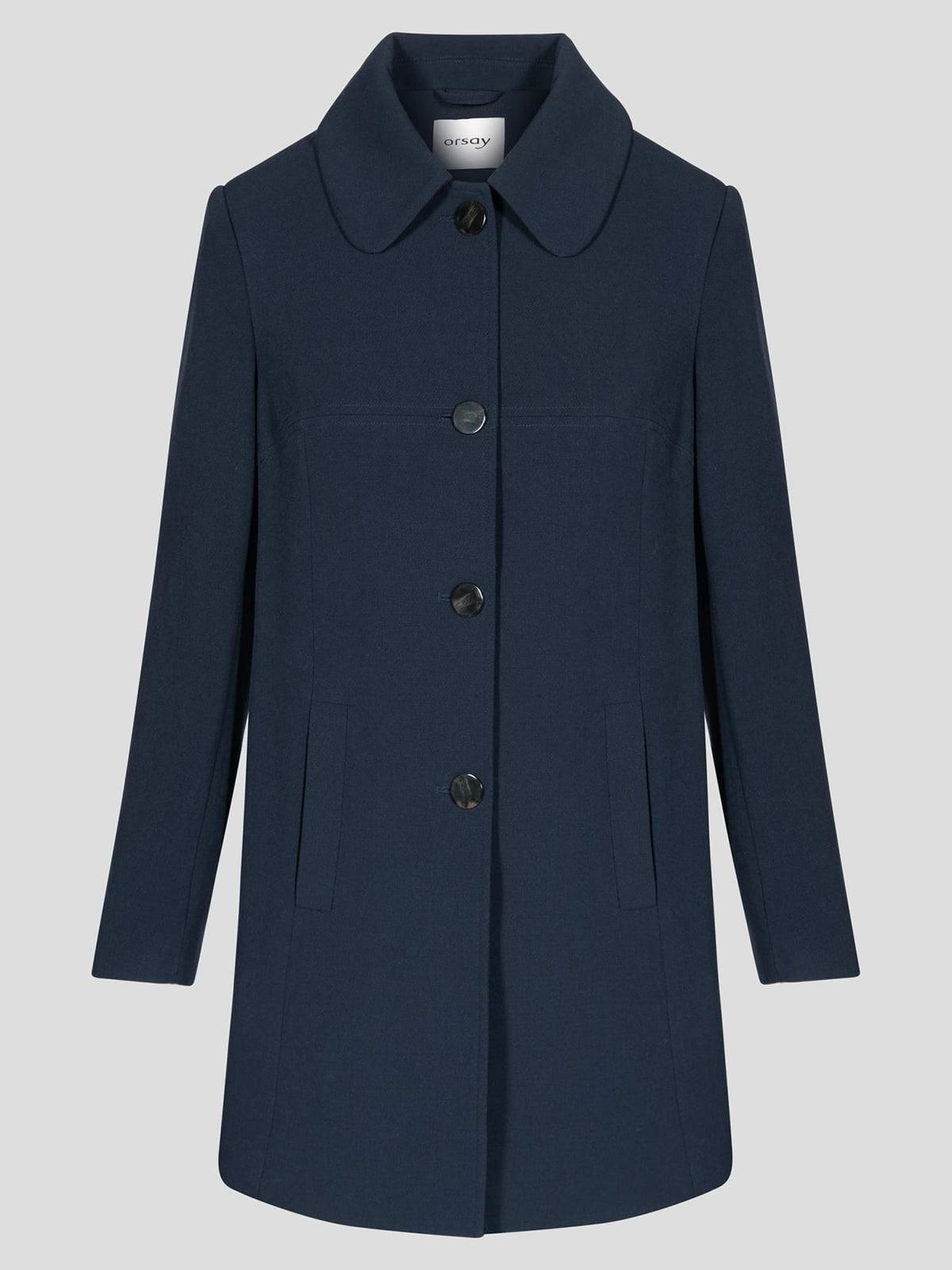 Пальто темно-синее | 4855999 | фото 5