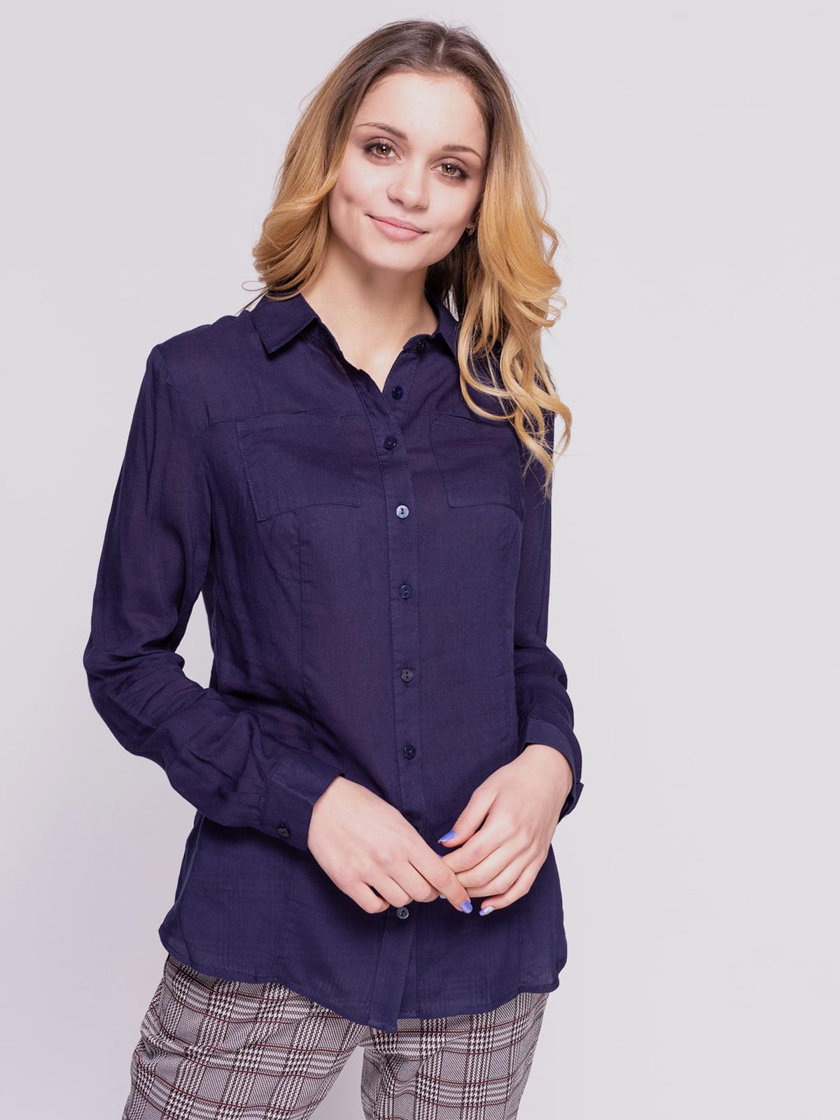 Рубашка темно-синяя | 4855854