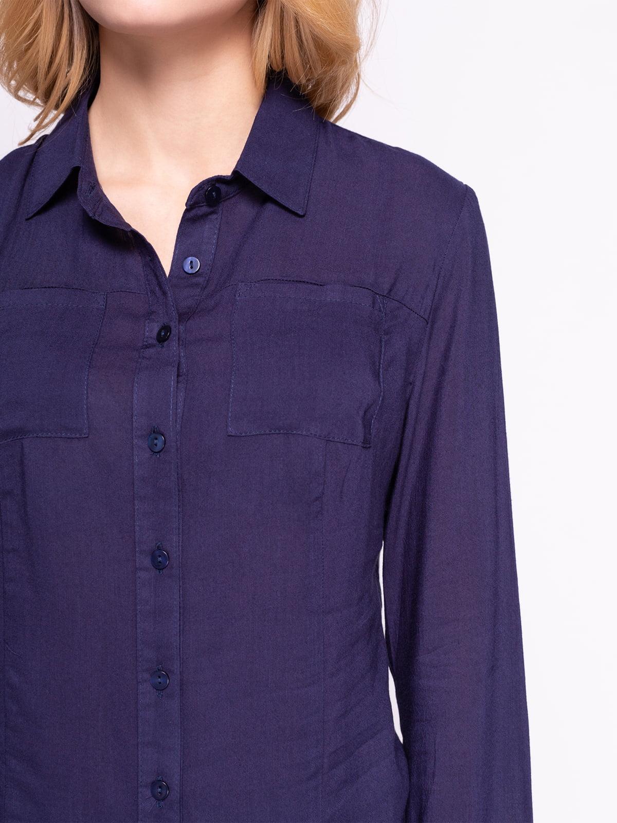 Рубашка темно-синяя | 4855854 | фото 3