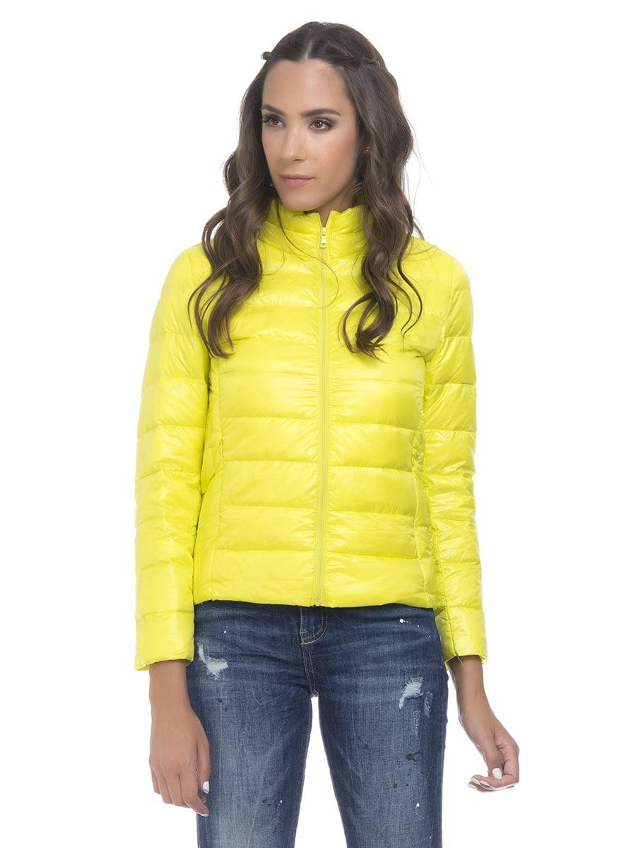 Куртка лимонного цвета   4525915   фото 4