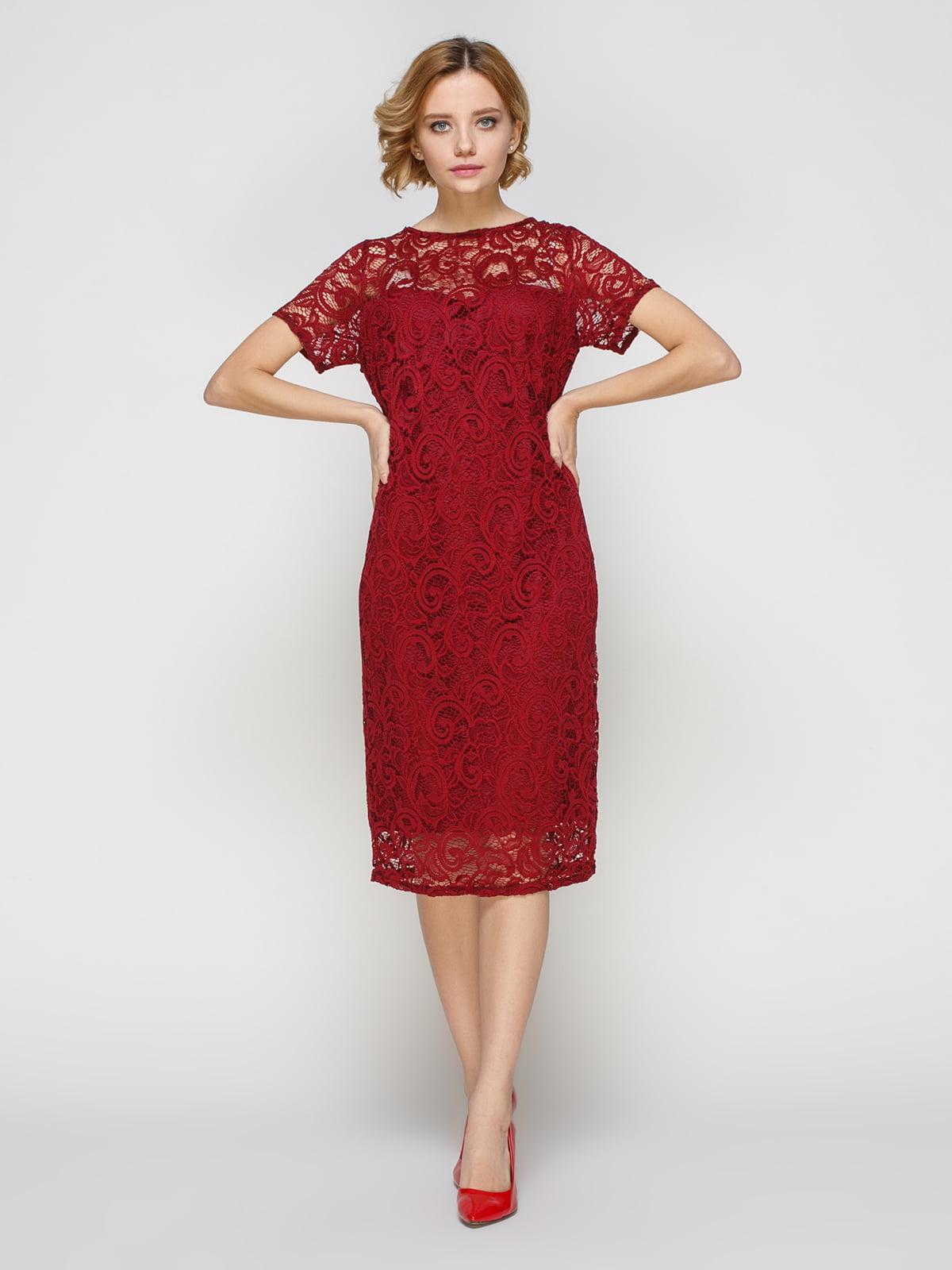 Сукня кольору марсала   3544651
