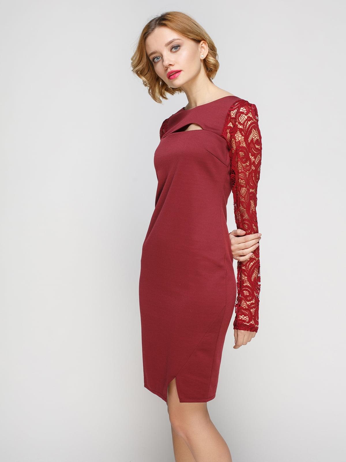 Сукня кольору марсала   3068023