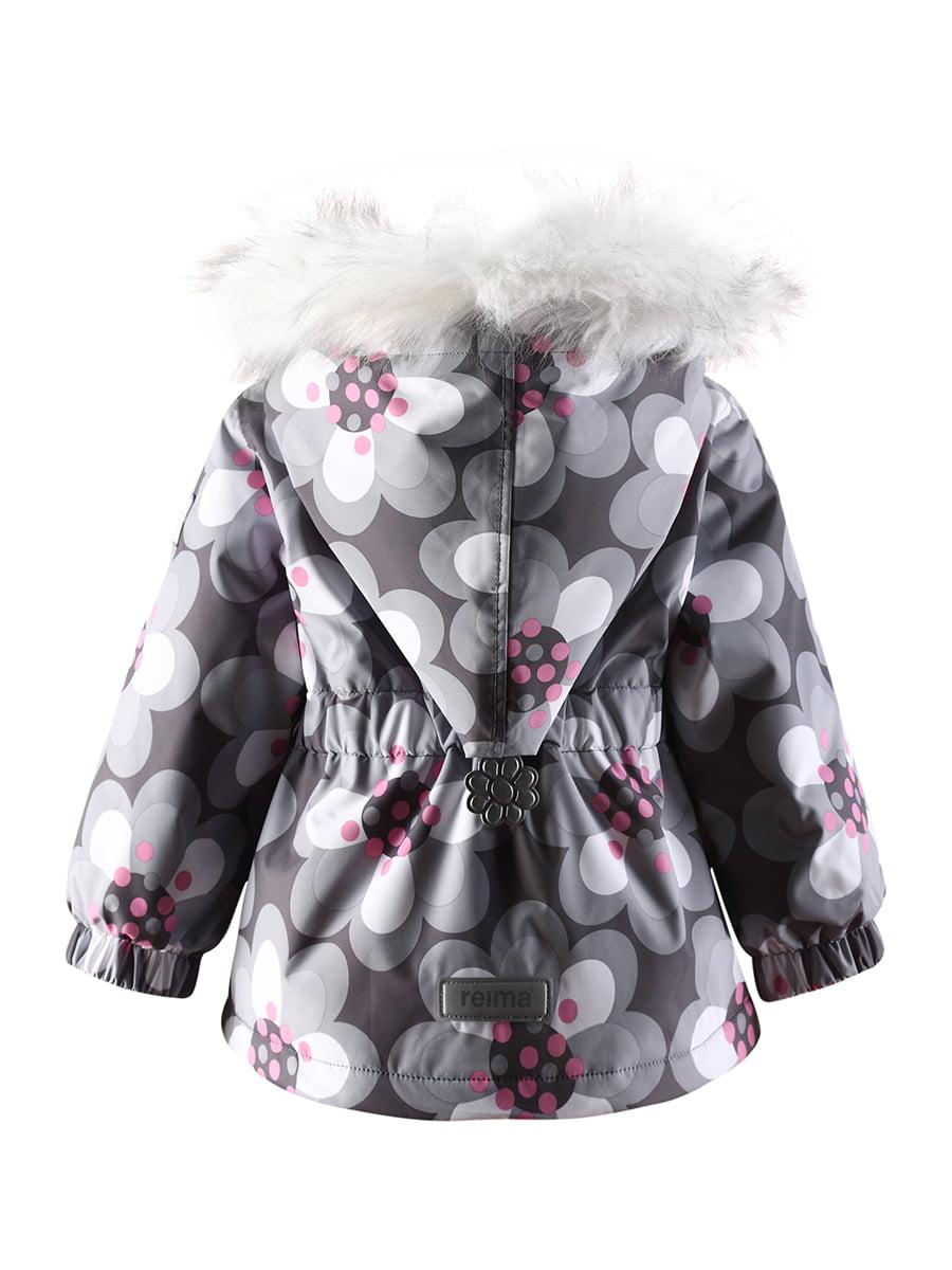 Куртка сіра в квітковий принт | 1422361 | фото 6