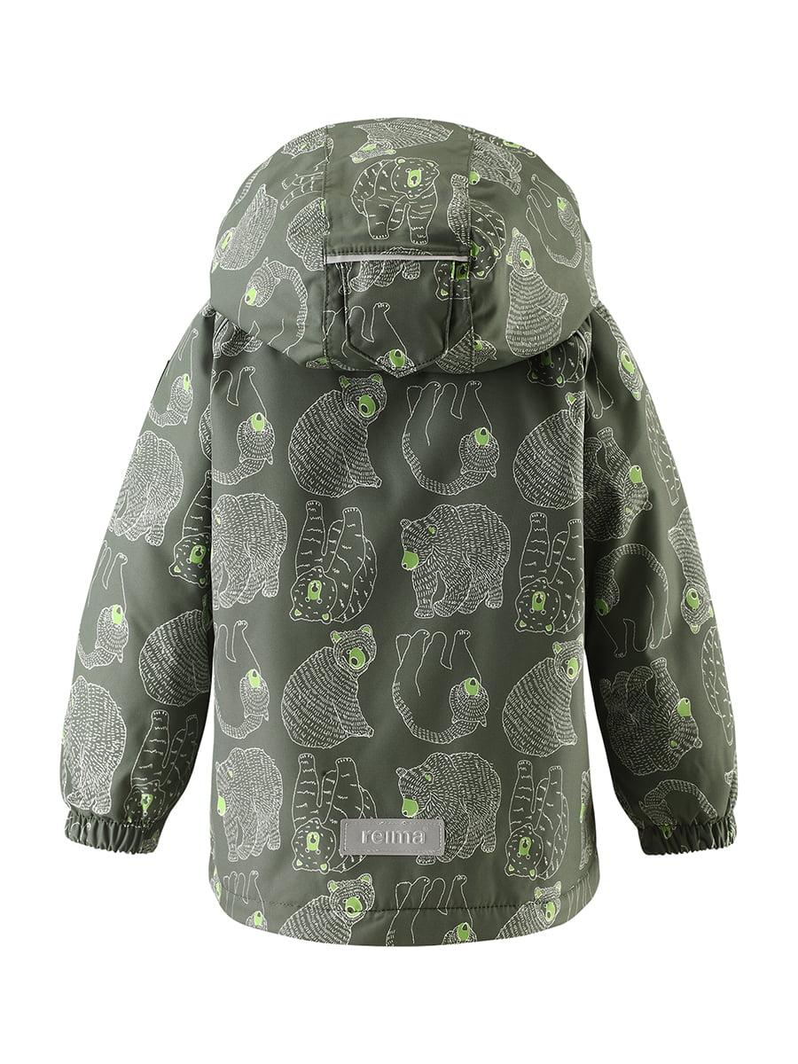 Куртка темно-зелена в принт | 4856623 | фото 5