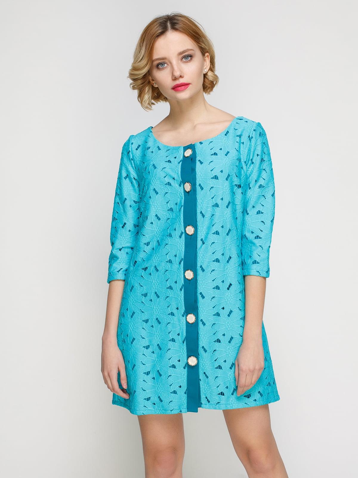Сукня-кардиган блакитна | 2183467