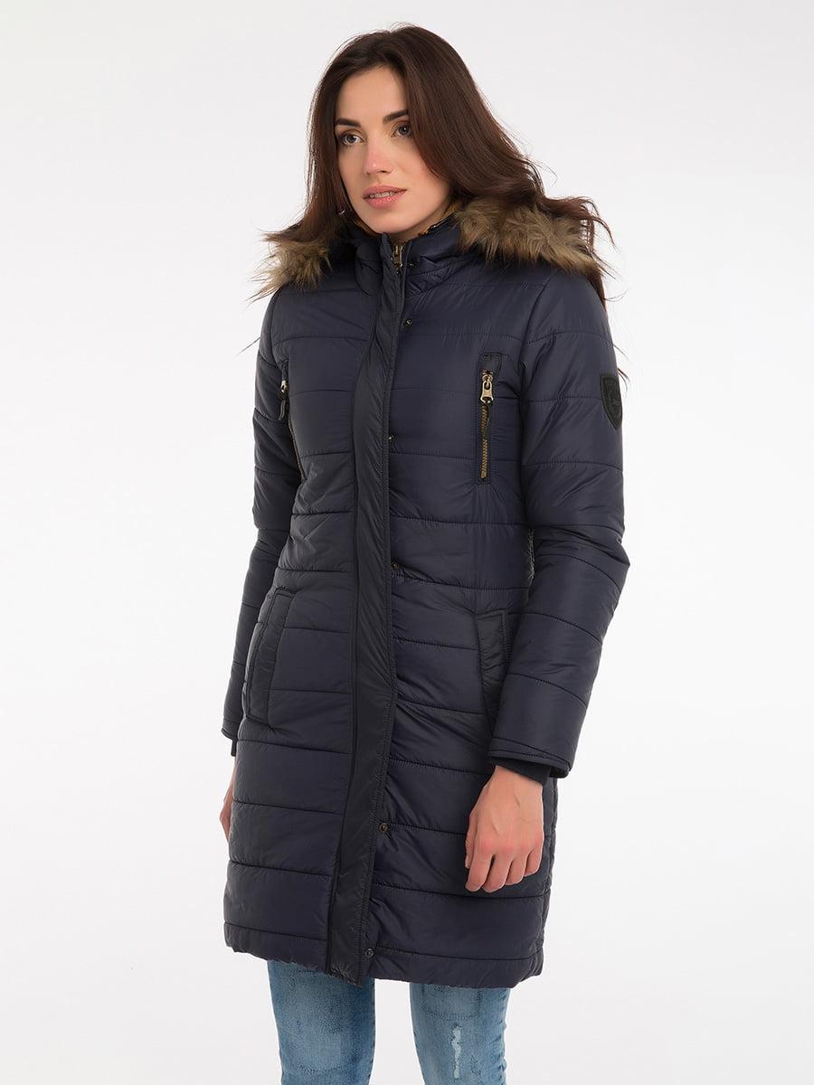 Пальто темно-синее | 3797411 | фото 12