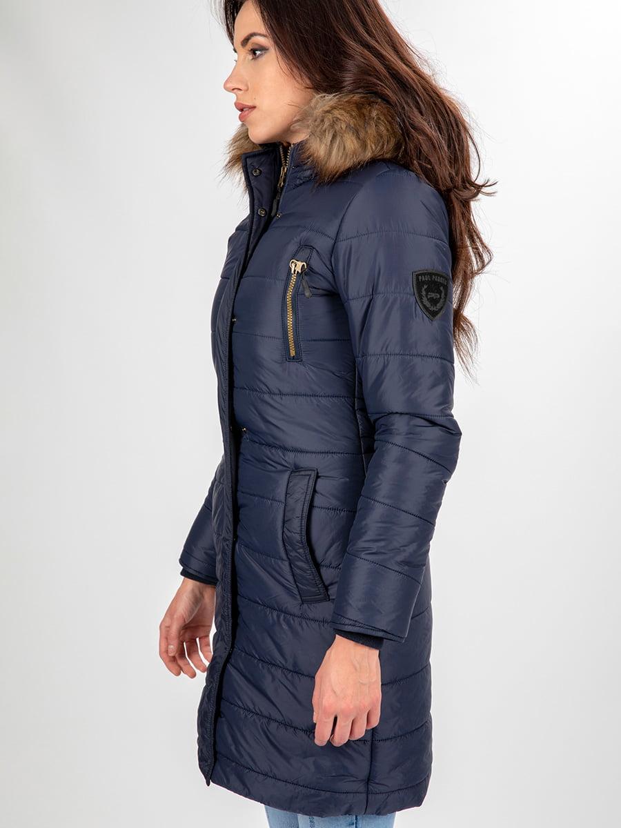 Пальто темно-синее | 3797411 | фото 14