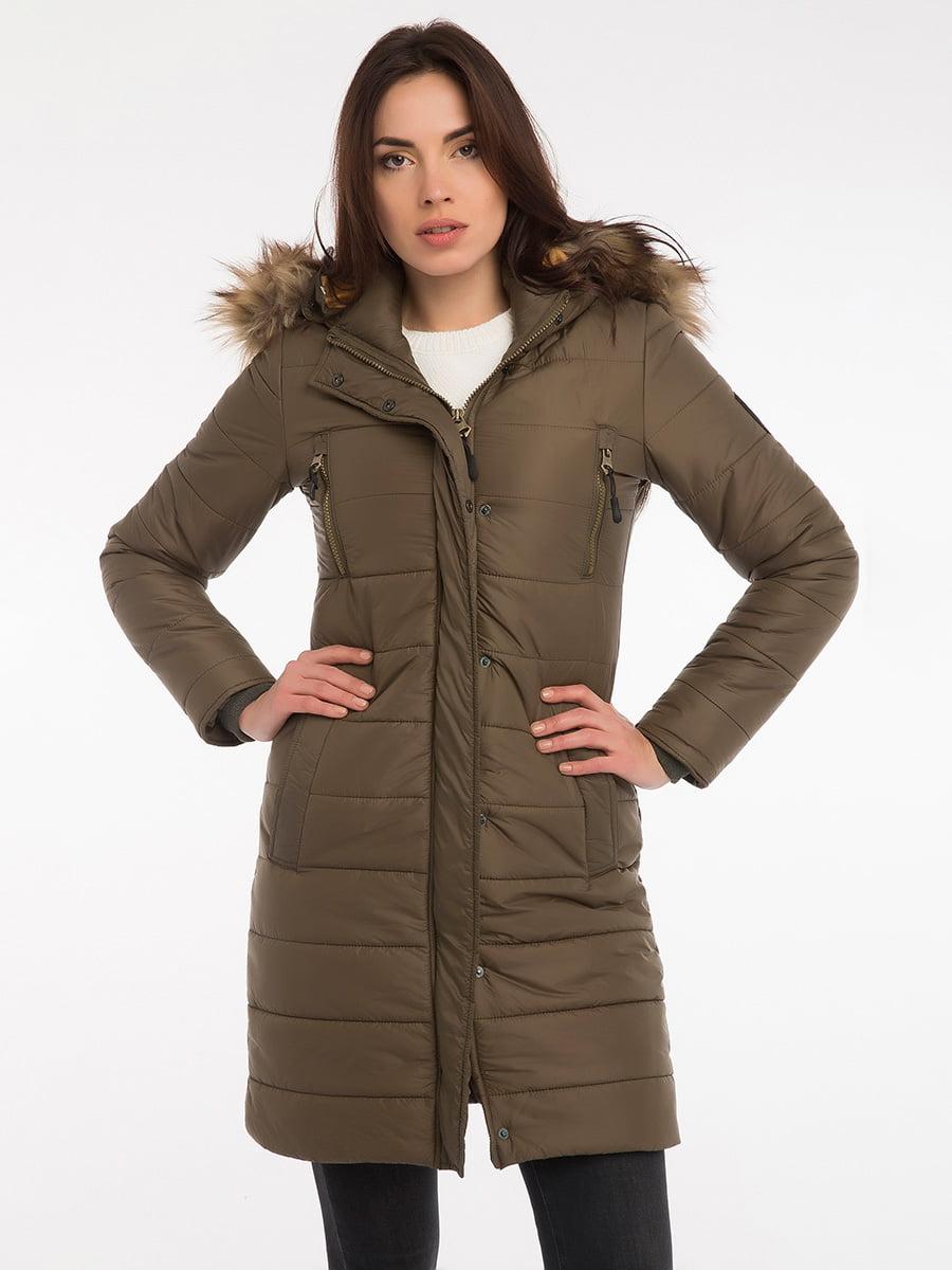 Пальто цвета хаки | 3797413 | фото 11