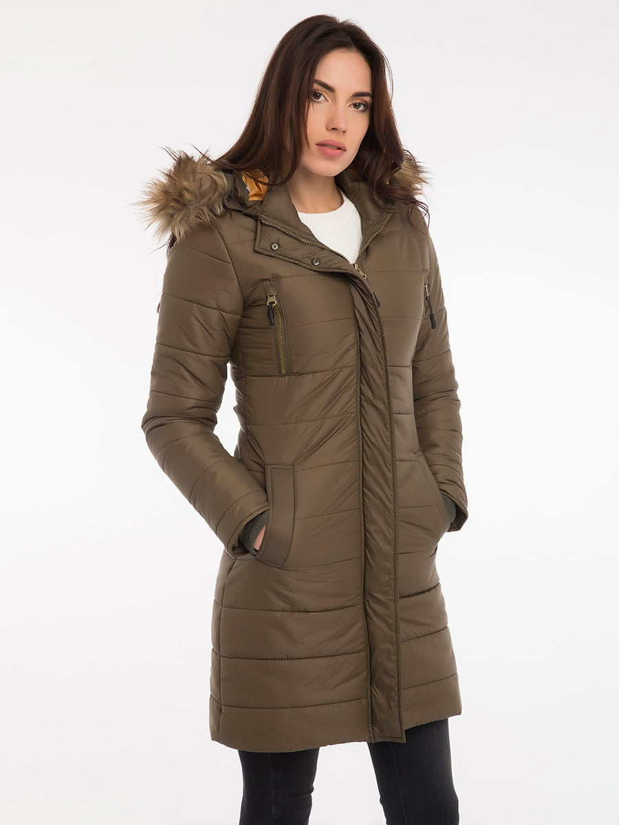Пальто цвета хаки | 3797413 | фото 12