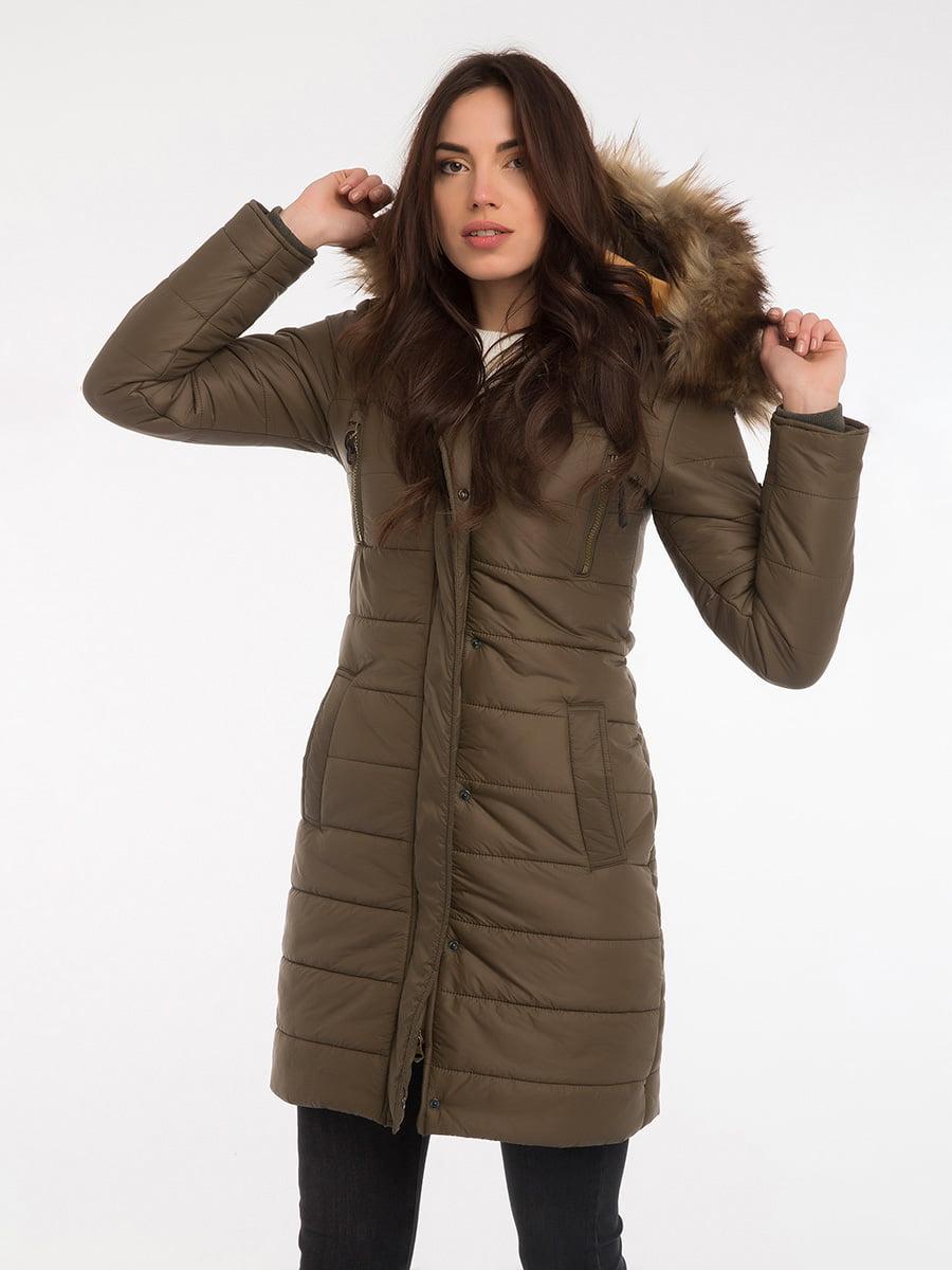 Пальто цвета хаки | 3797413 | фото 13