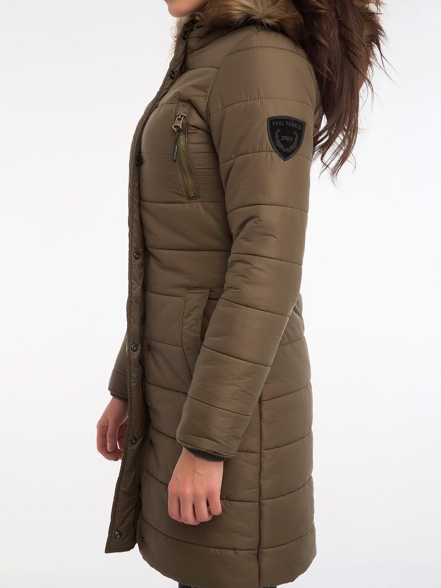 Пальто цвета хаки | 3797413 | фото 14