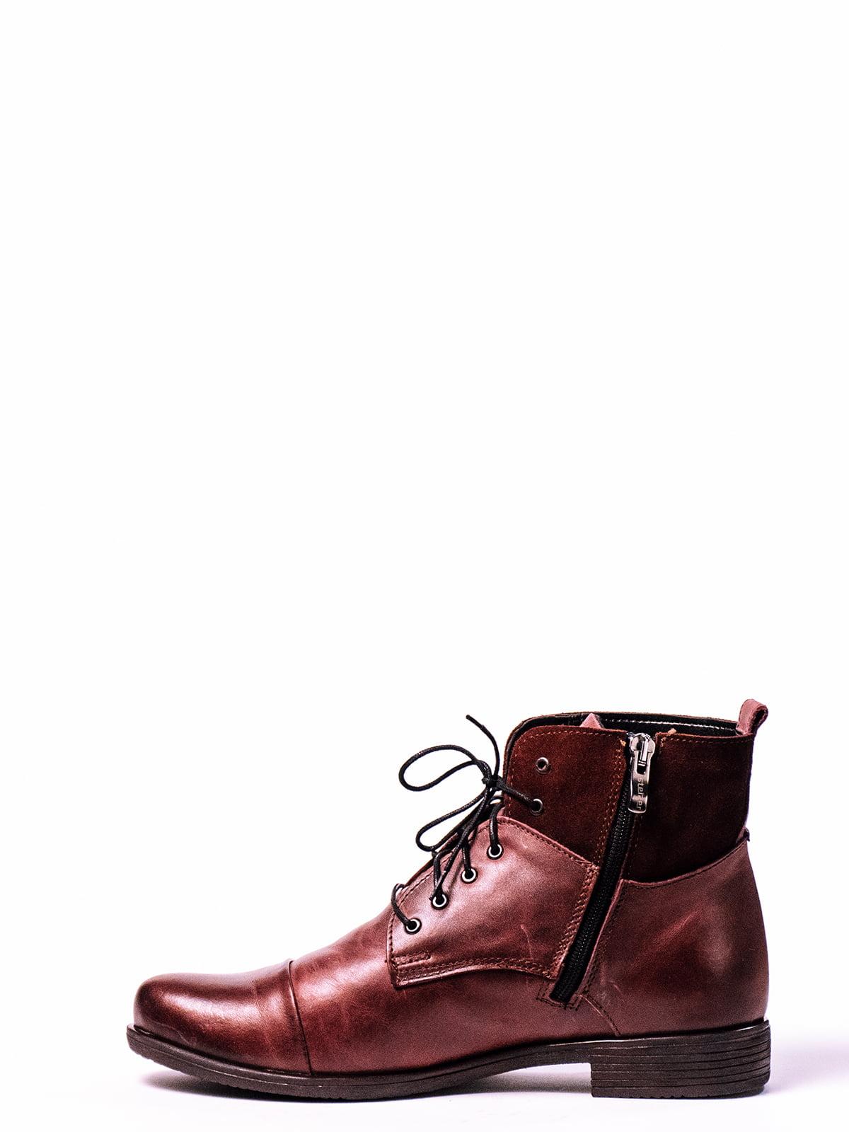 Ботинки вишневого цвета   4860328   фото 2