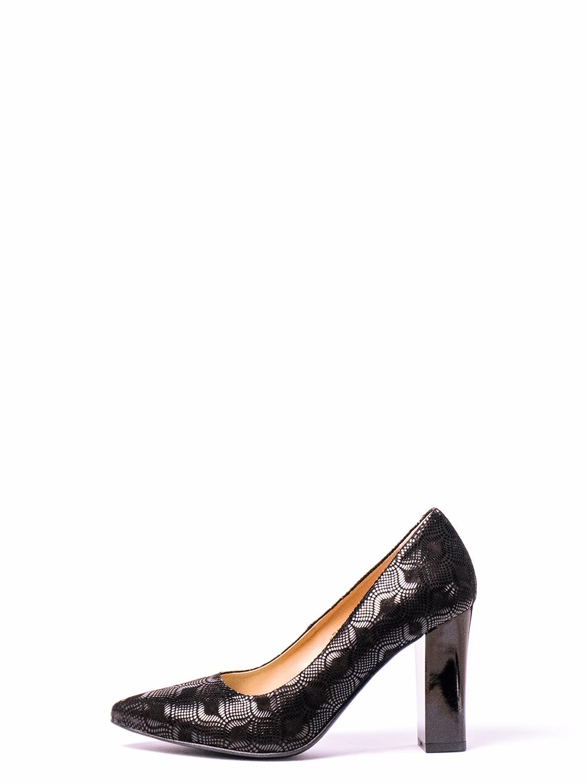 Туфли черные с рисунком | 4860331