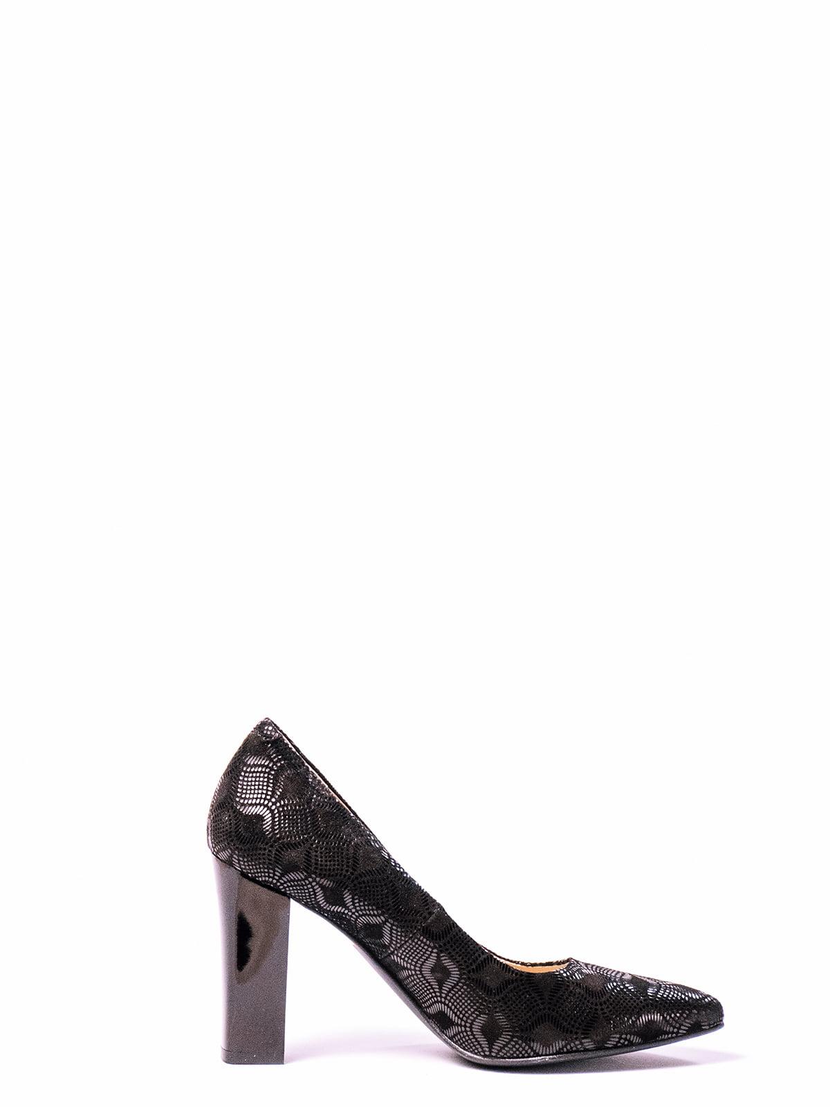 Туфли черные с рисунком | 4860331 | фото 2