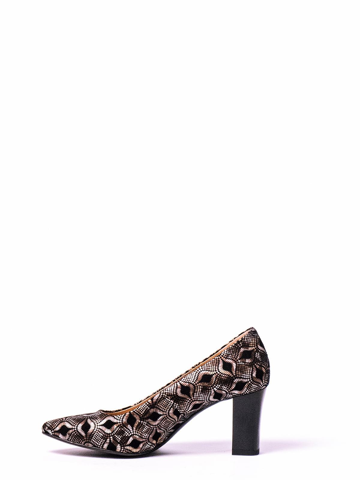 Туфли бронзового цвета с рисунком | 4860332 | фото 2