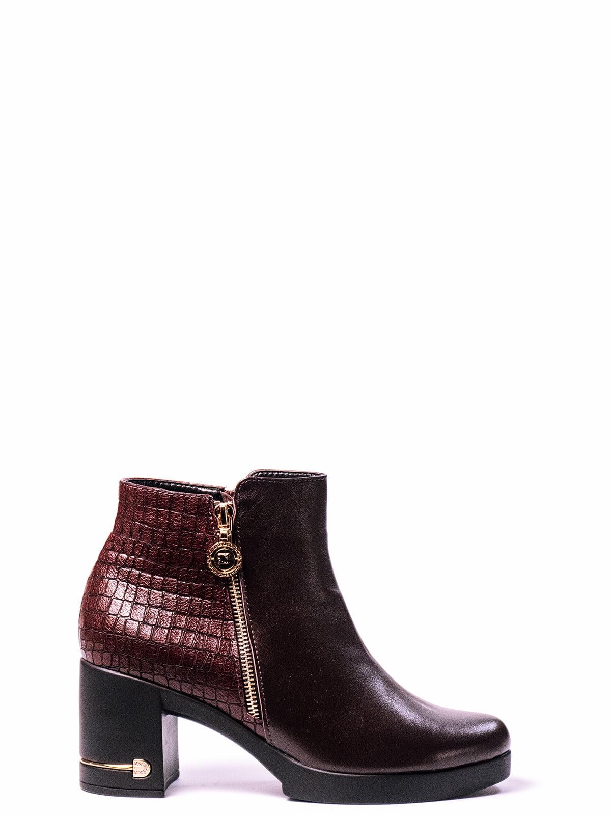 Ботинки бордовые | 4860357