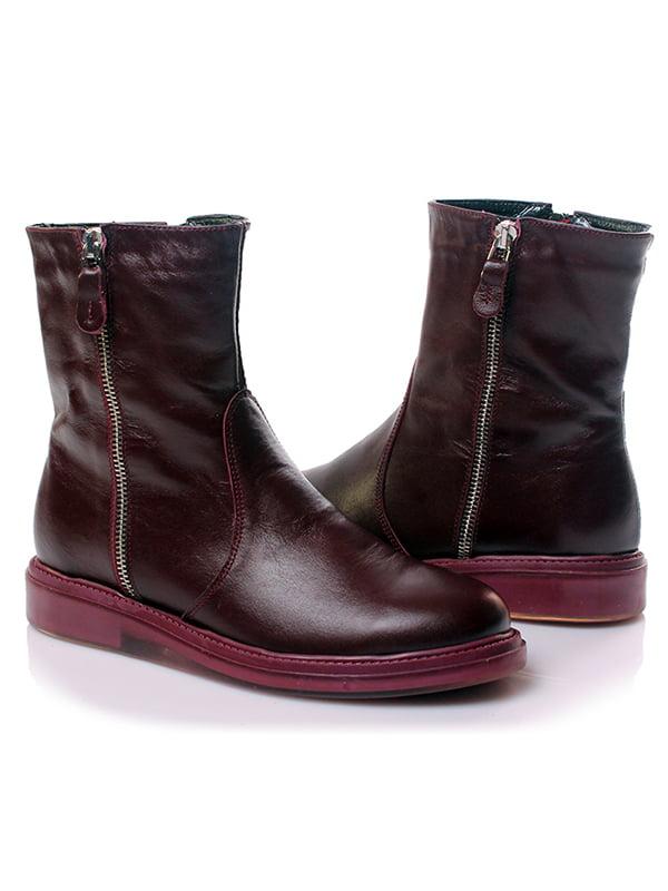 Ботинки бордовые | 4861248