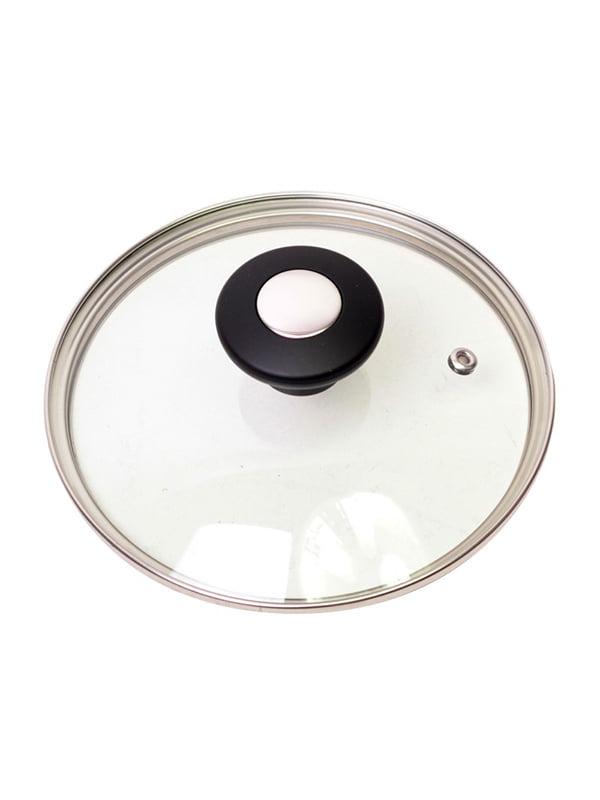 Кришка скляна з металевим обідком (24 см) | 4861278