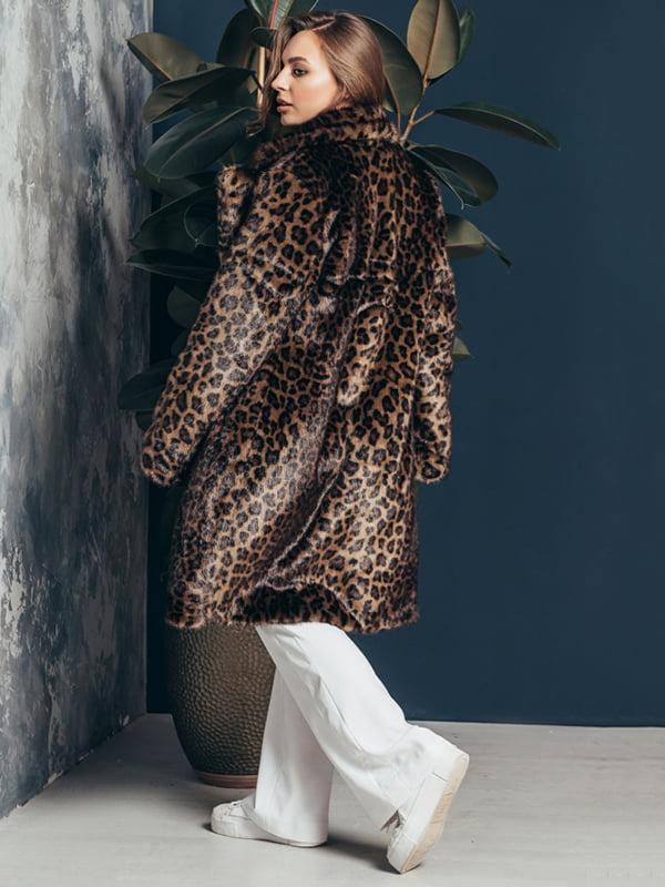 Шуба в леопардовый принт | 4861301 | фото 3
