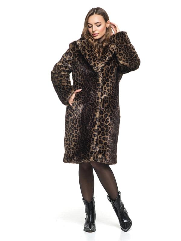 Шуба в леопардовый принт | 4861301 | фото 4