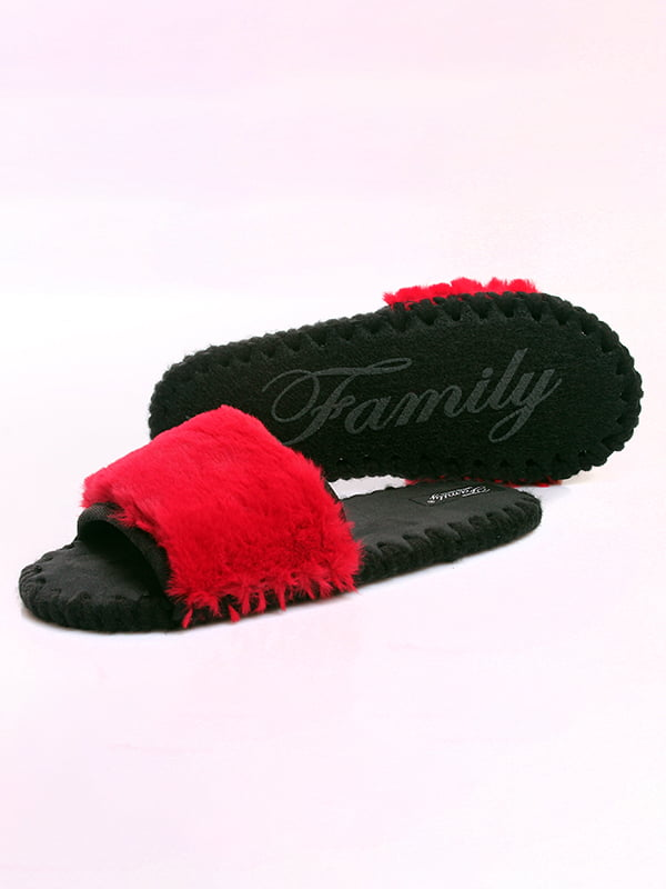 Тапочки черно-красные | 4861627