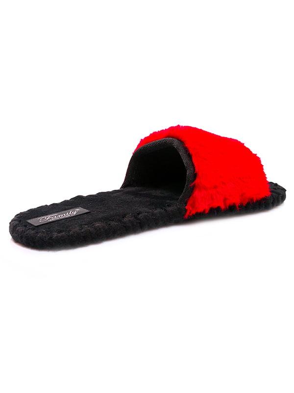 Тапочки черно-красные | 4861627 | фото 2
