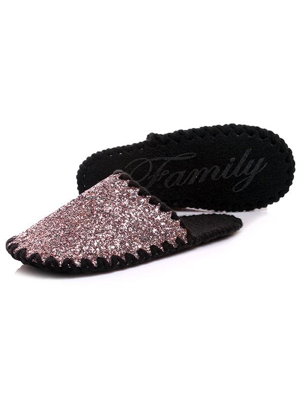 Тапочки черно-серебристые | 4861633