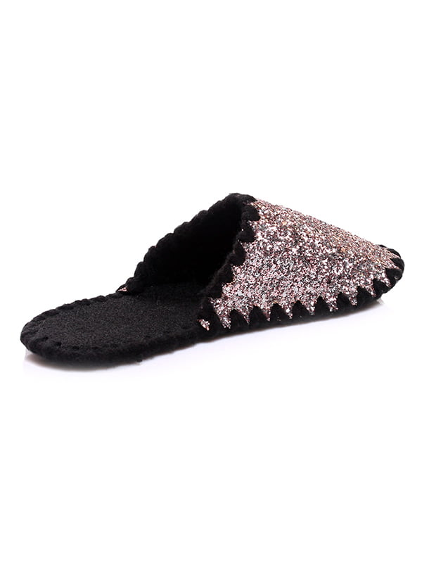 Тапочки черно-серебристые | 4861633 | фото 2