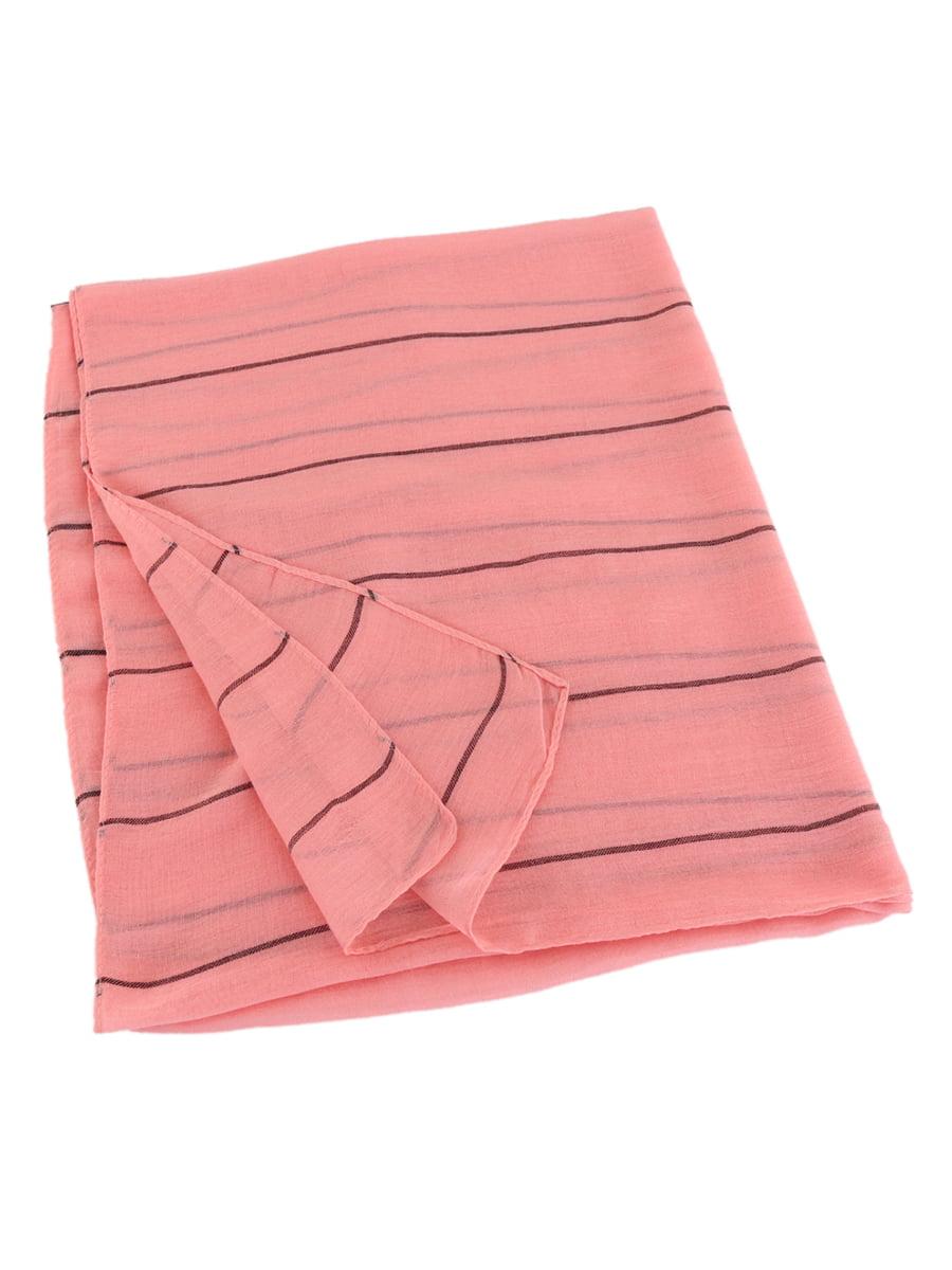 Шарф рожевий в тонку смужку   4861432   фото 3