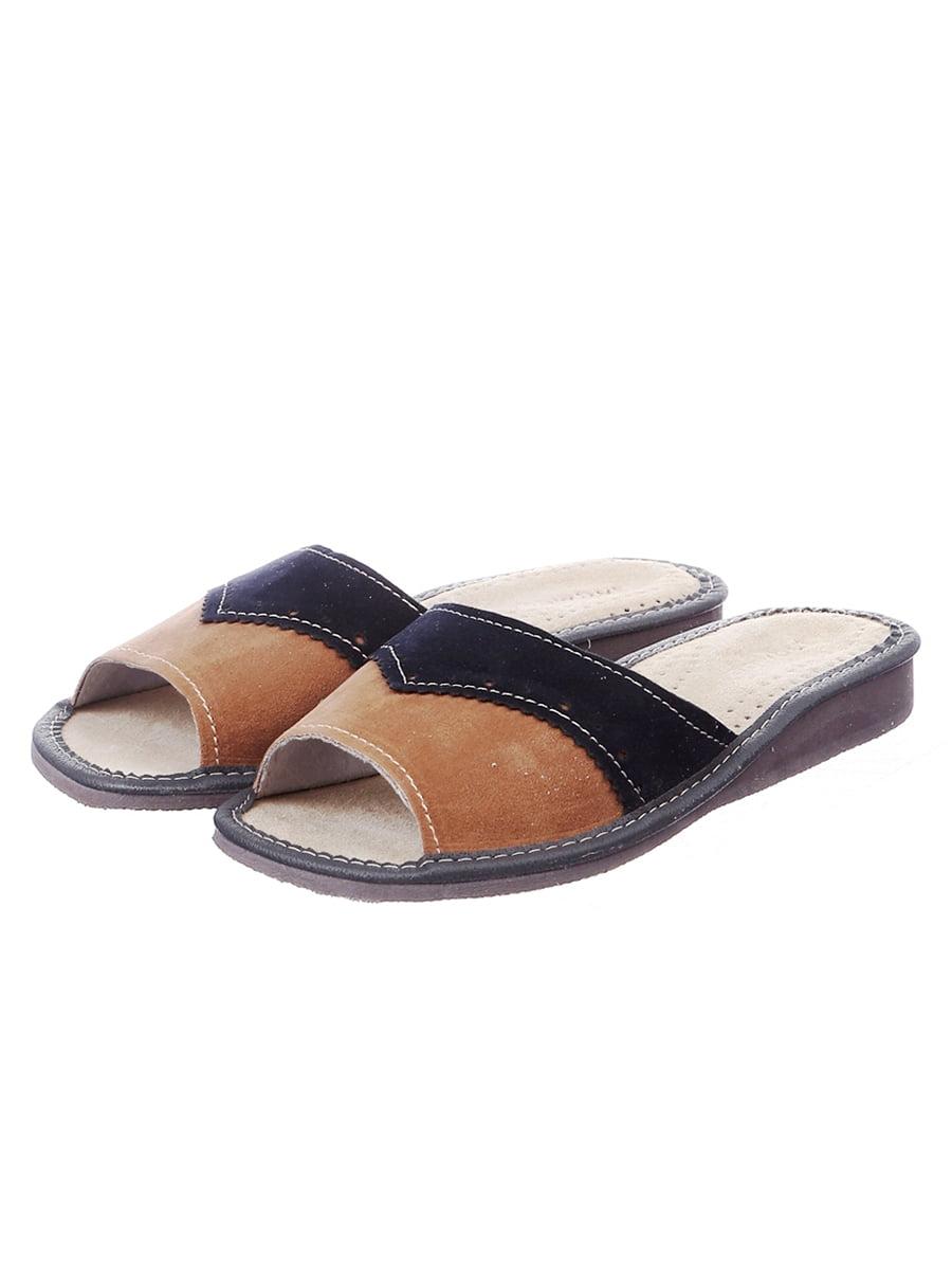 Тапочки коричнево-синие | 4863016