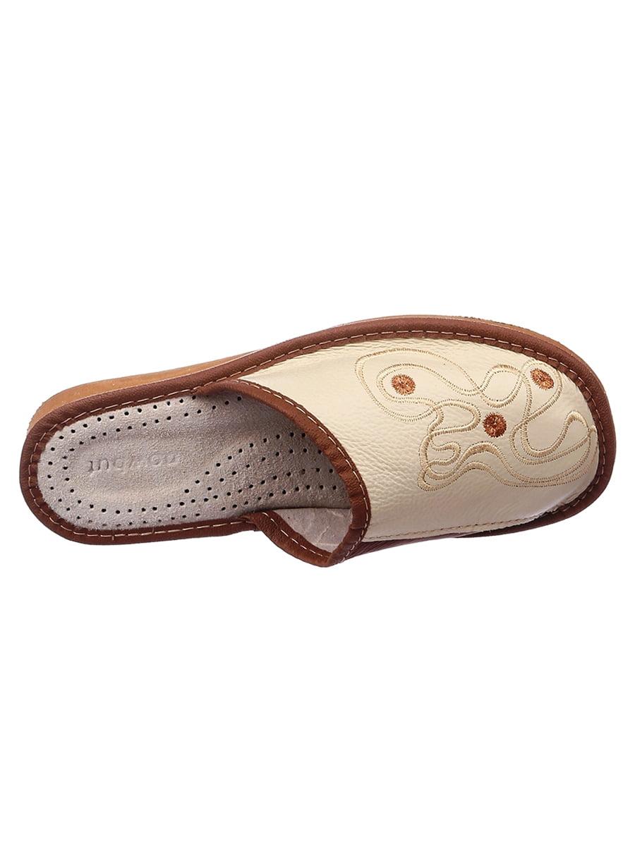 Тапочки коричневые кожаные | 4863018 | фото 2