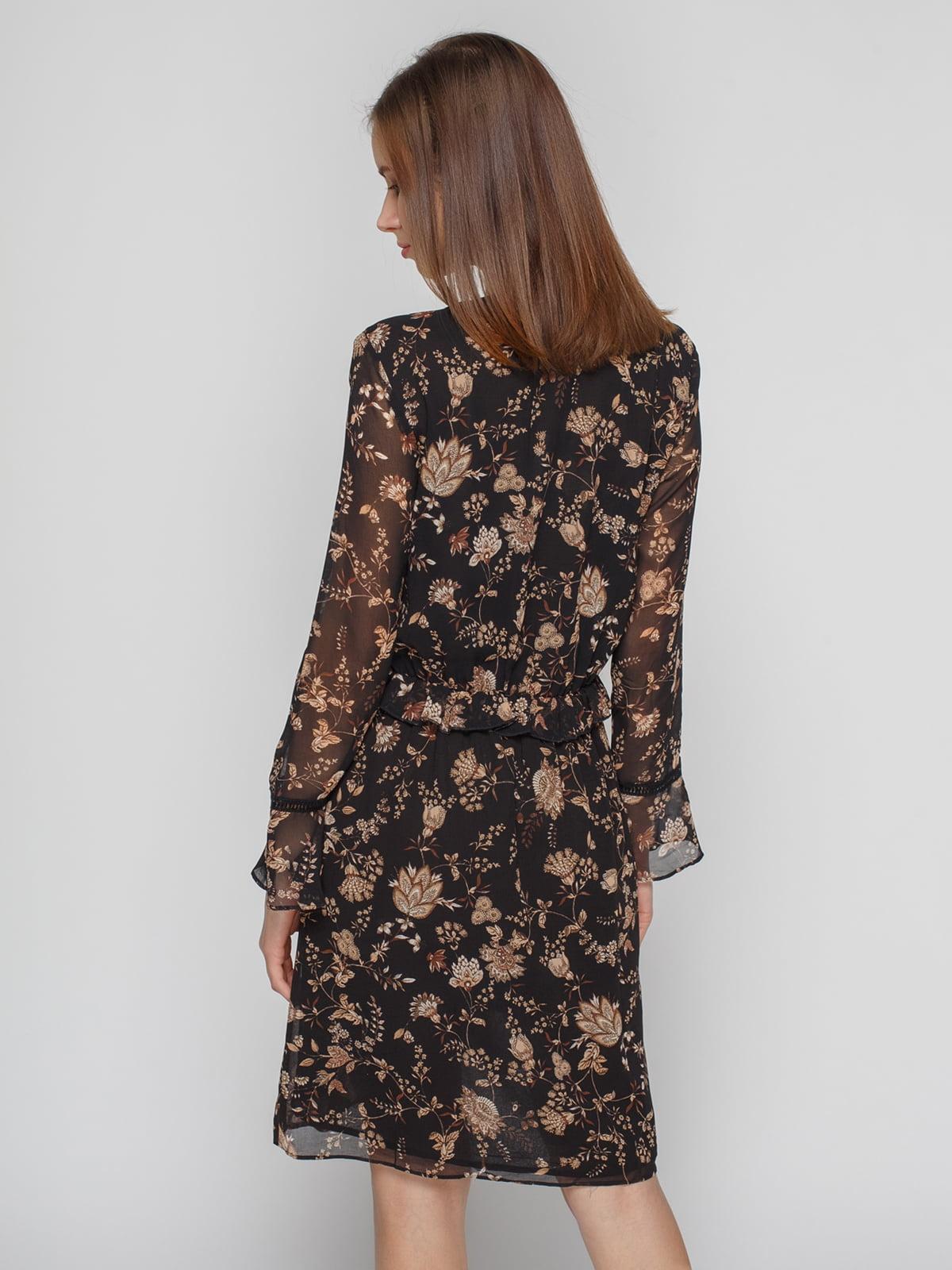Платье черное в принт | 4789403 | фото 2