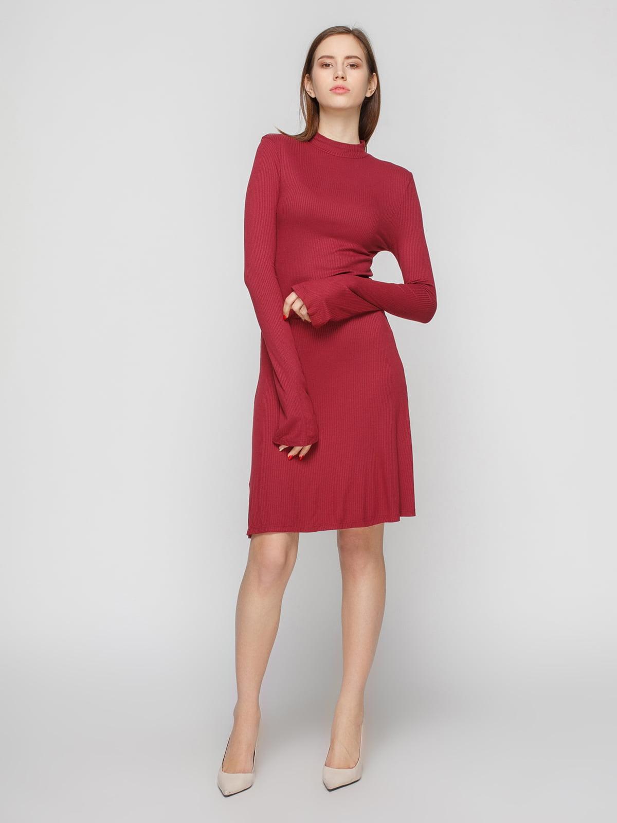 Платье винного цвета | 4791384