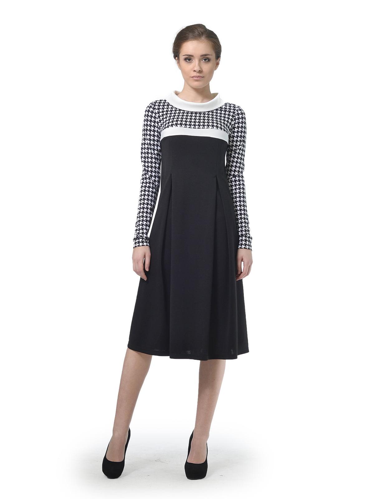 Сукня з принтом в гусячу лапку   4837091