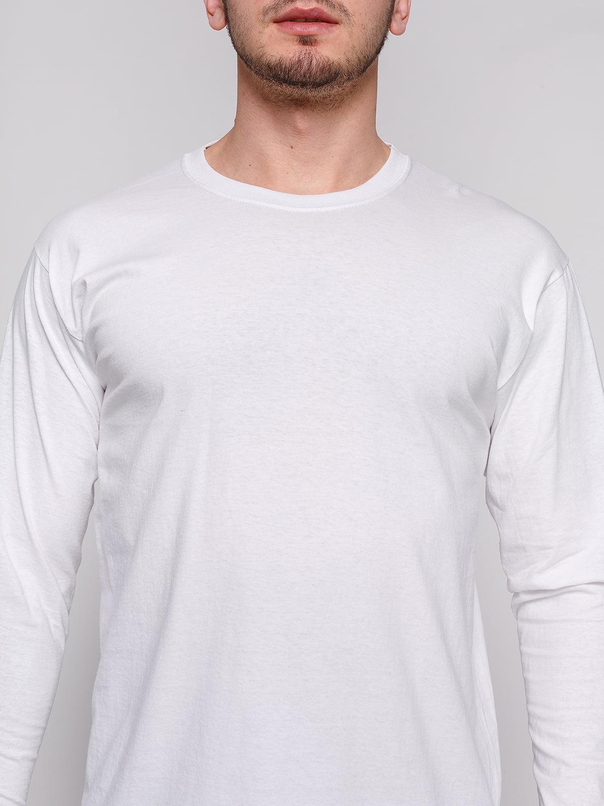 Лонгслив белый | 4861752 | фото 3