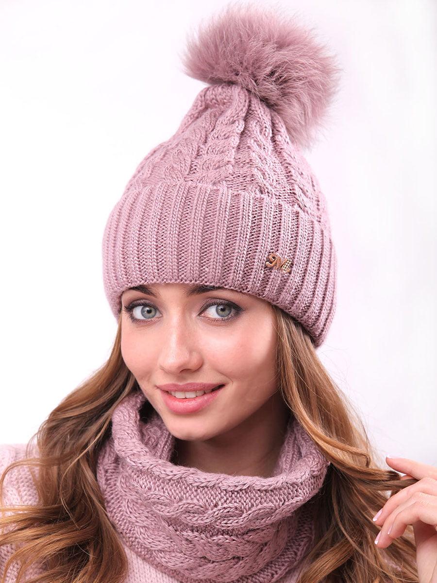 Комплект: шапка и шарф-хомут   4866851