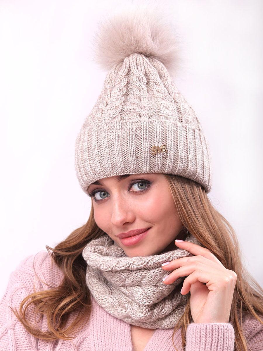 Комплект: шапка и шарф-хомут | 4866853