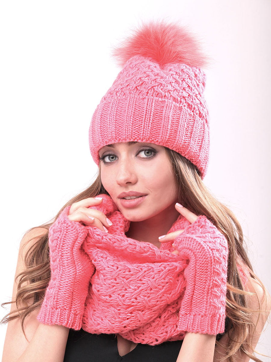 Комплект: шапка, шарф-хомут и митенки | 4866858