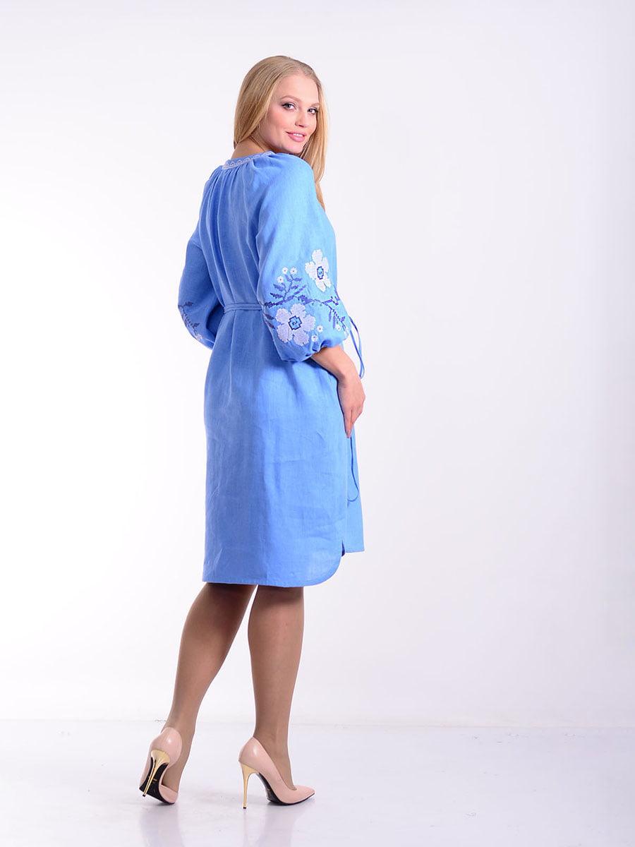 Платье голубое   4834494   фото 3