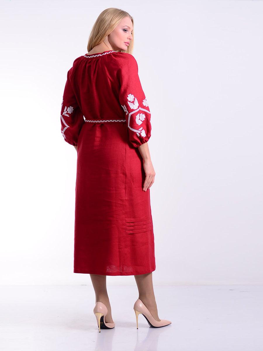 Платье бордовое | 4834496 | фото 3
