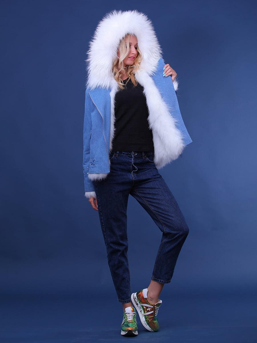 Куртка джинсового цвета | 4834500 | фото 4