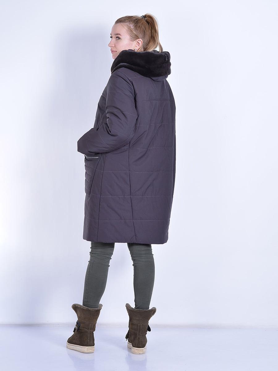 Пальто шоколадного цвета | 4834506 | фото 5