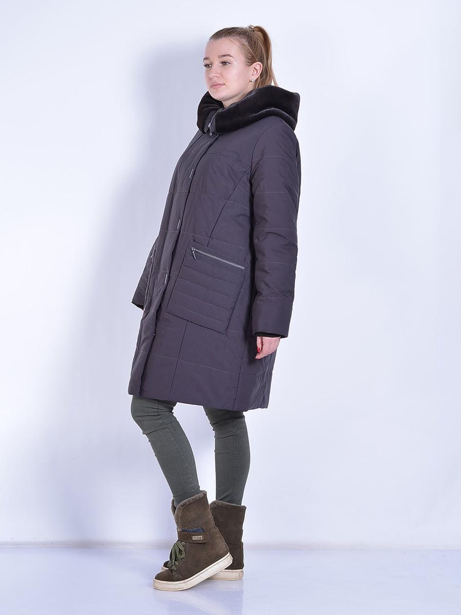 Пальто шоколадного цвета | 4834506 | фото 4