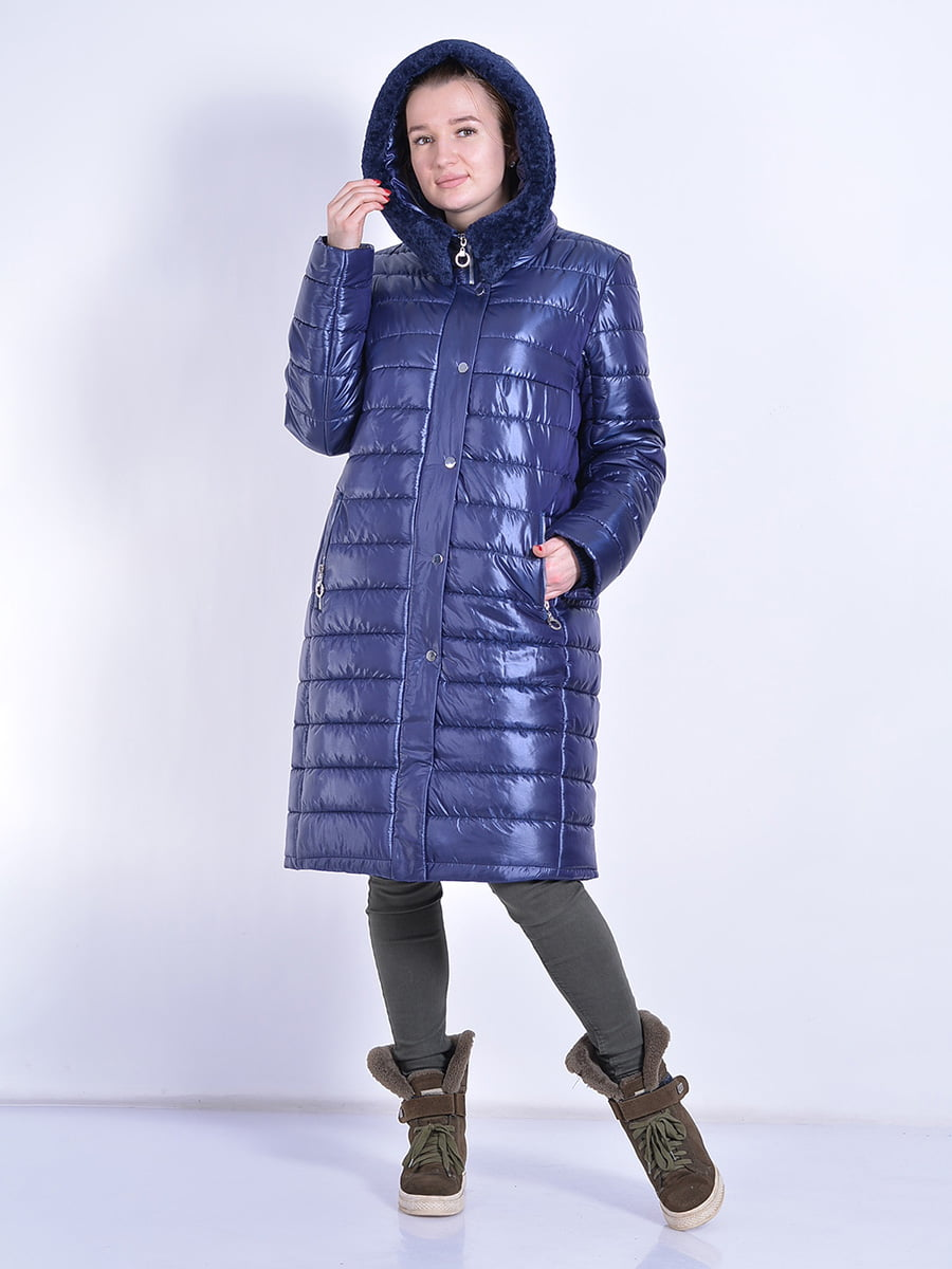 Пальто синее | 4834518 | фото 5