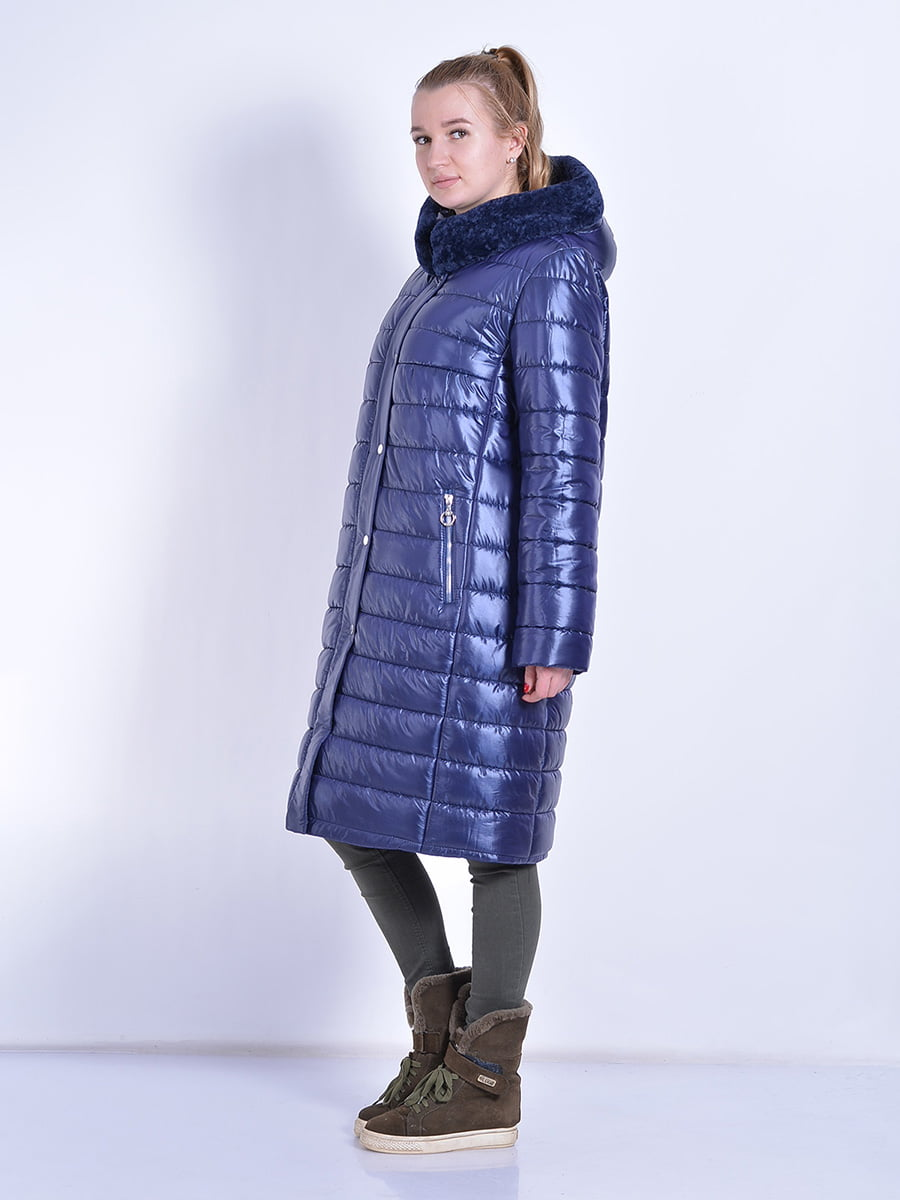 Пальто синее | 4834518 | фото 6