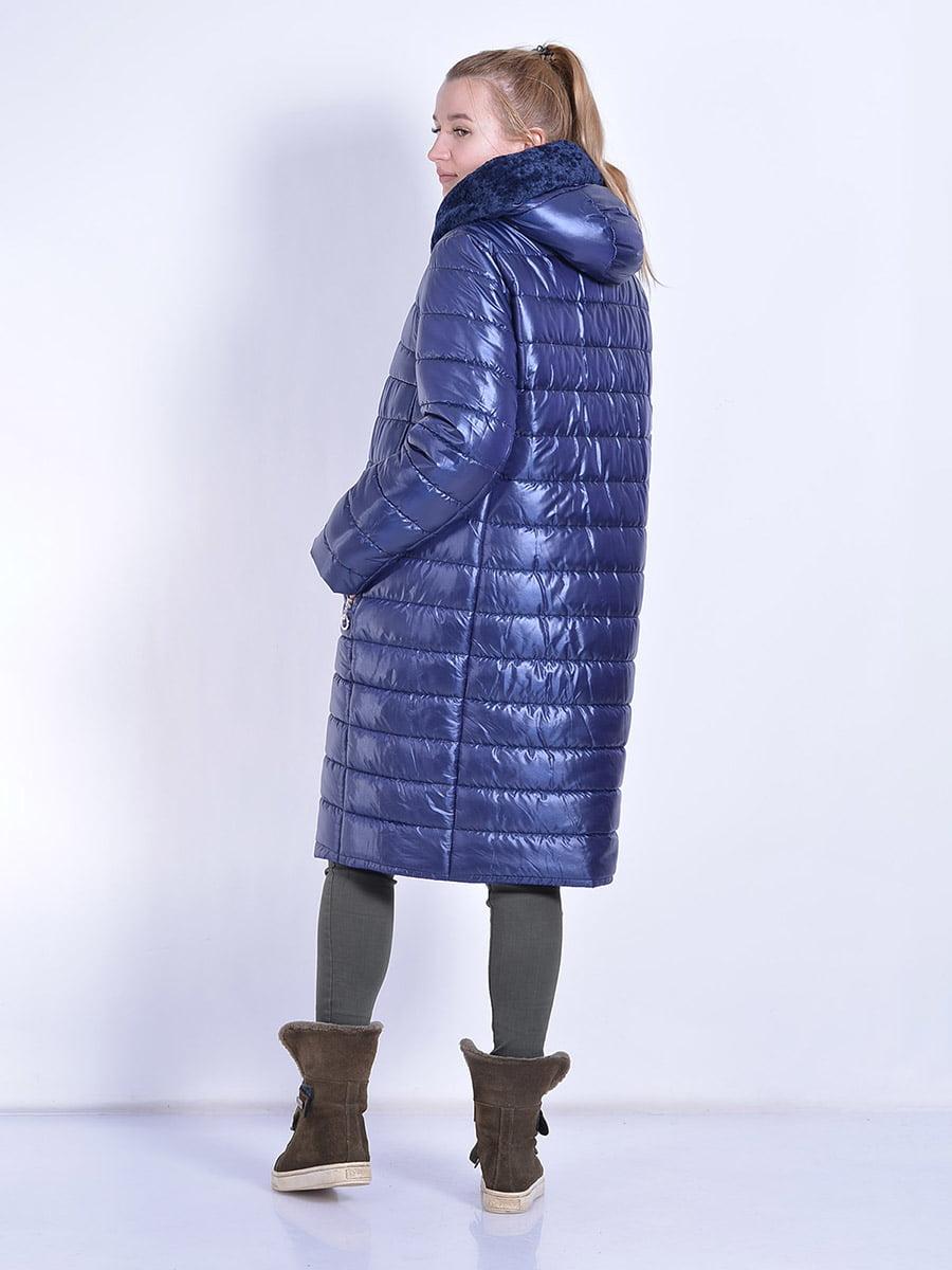 Пальто синее | 4834518 | фото 7