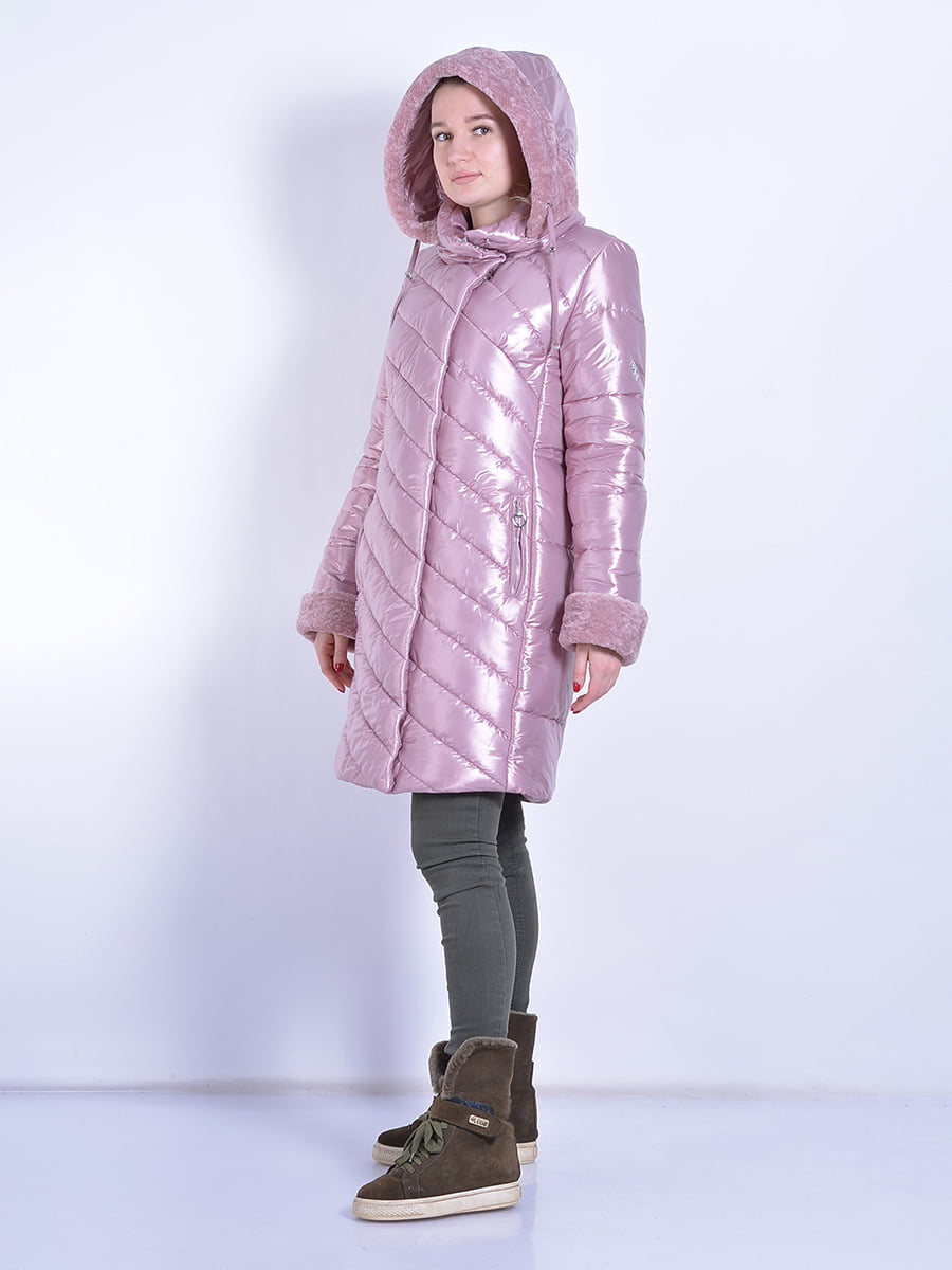 Пальто розовое | 4834520 | фото 4