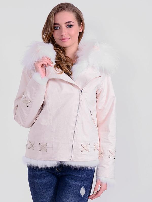 Куртка светло-бежевая | 4834504 | фото 4
