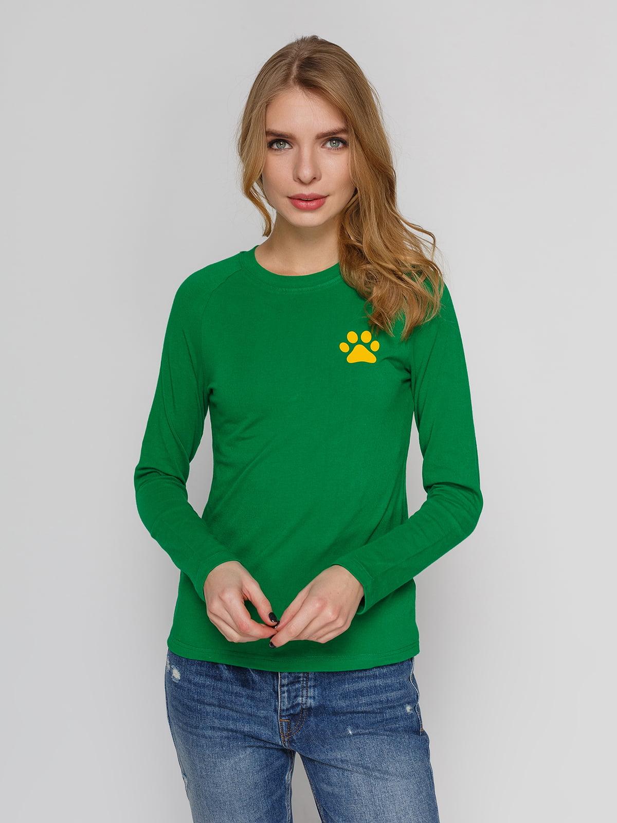 Реглан зеленый с принтом | 4861802